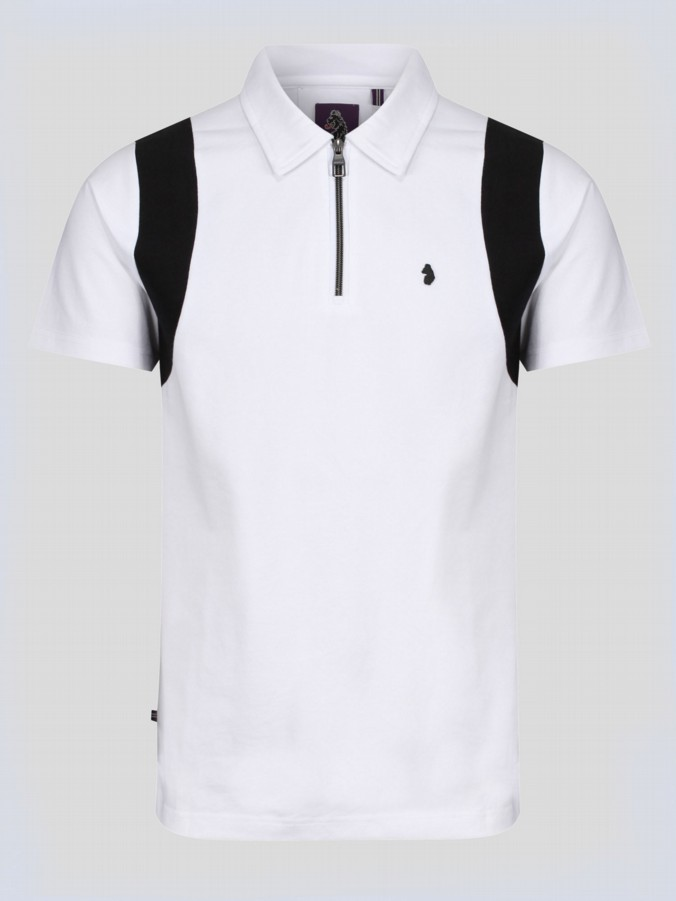 SUNSHINE S/S ZIP NECK POLO