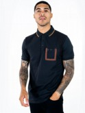 ARKELA S/S MIXED FABRIC JERSEY POLO