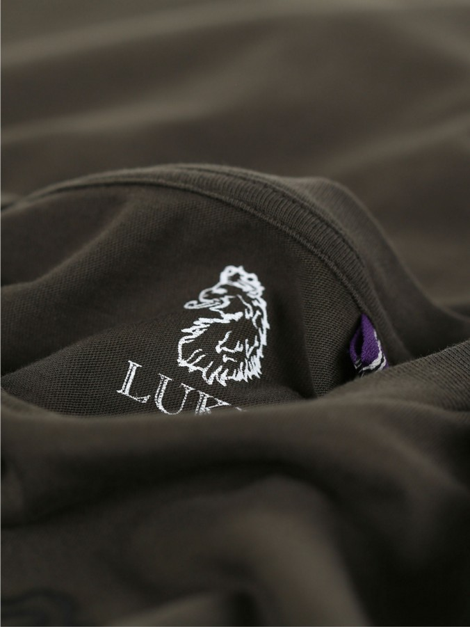 BLACKOUT LUKE JUNIOR TEXT PRINT EMBROIDERY DETAIL JERSEY