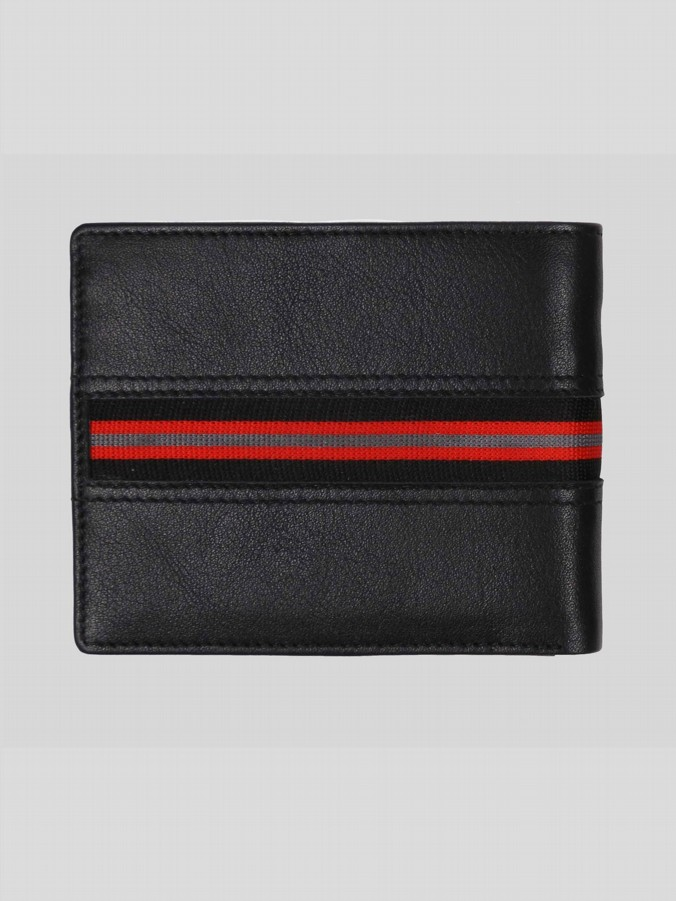 OPULENT LEATHER WALLET WITH SPORT TAPE