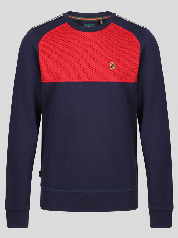 MARCO SPORT MIXED FABRIC SWEAT