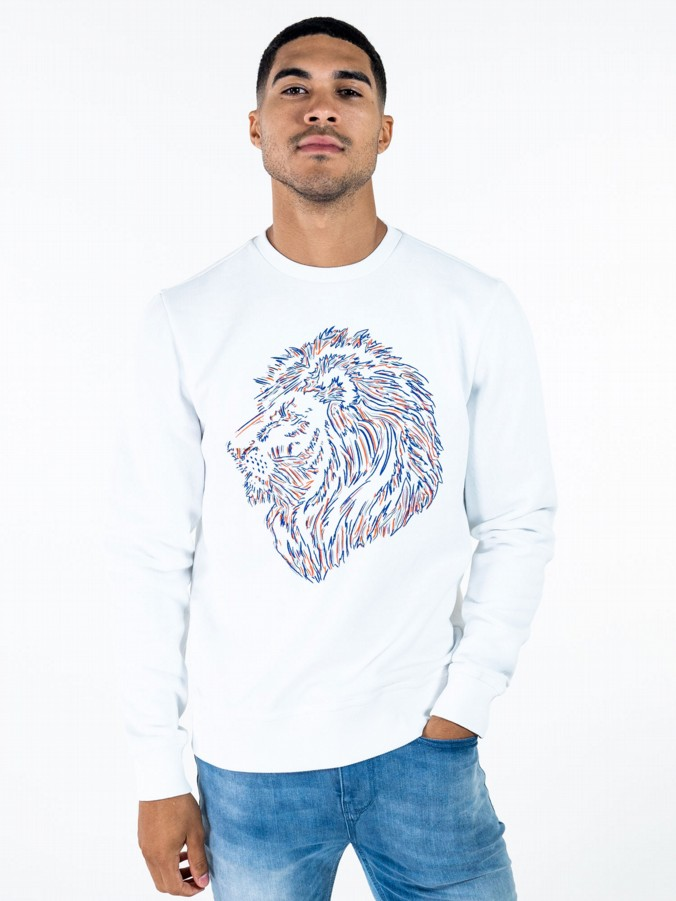 BAYEUX SPORT LION PRINT CREW NECK SWEAT